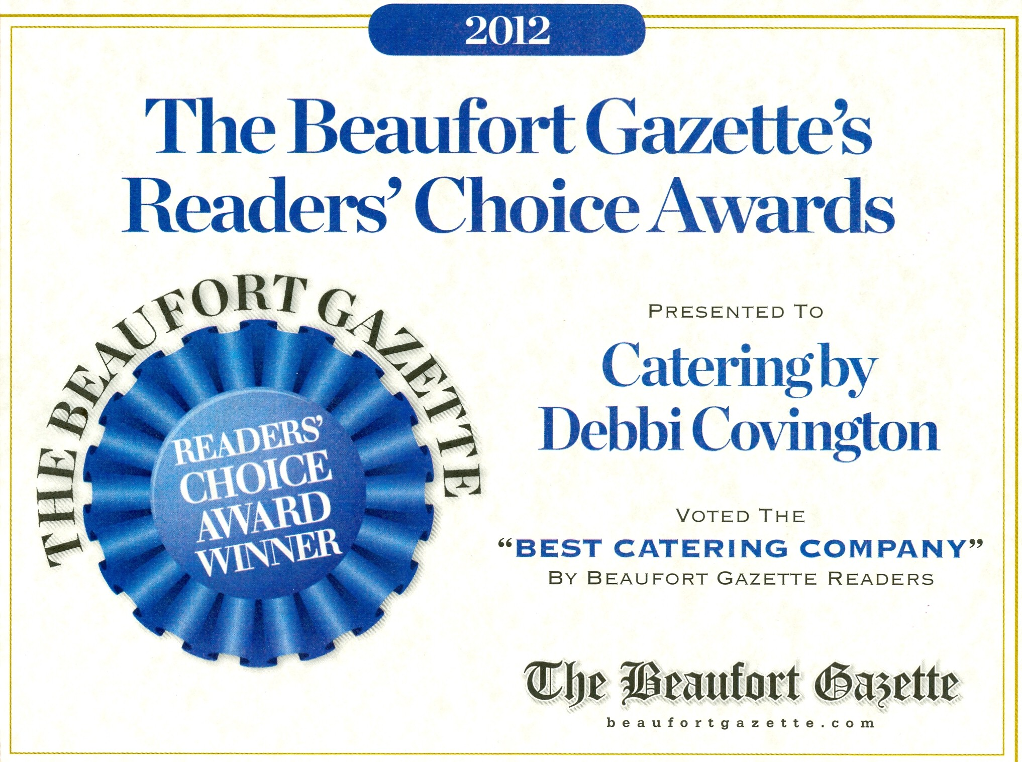 Catering by debbi covingtonthe beaufort gazette 39 s readers for Best catering services