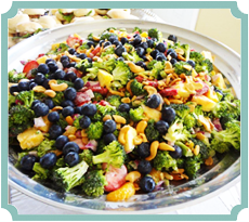 Broccoli Salad with Oranges and Berries