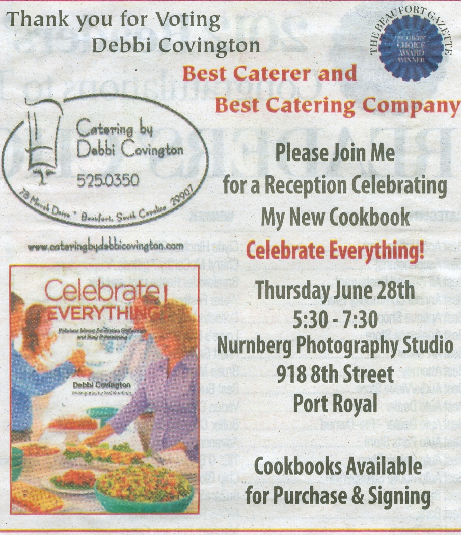 Catering by debbi covingtonthe beaufort gazette 39 s readers for Best catering
