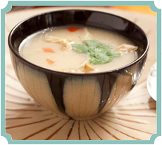 Coconut Chicken Soup with Ginger (photography by Paul Nurnberg)