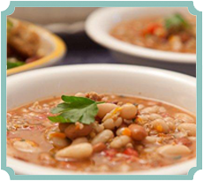 Italian Sausage and White Bean Soup (photography by Paul Nurnberg)