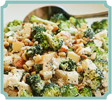 Broccoli Salad with Lemon Pepper-Blue Cheese Dressing (photography by Paul Nurnberg)