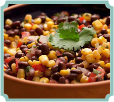 Calico Corn and Black Bean Salad (photography by Paul Nurnberg)