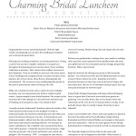 Charming Bridal Luncheon - DIY December 2012