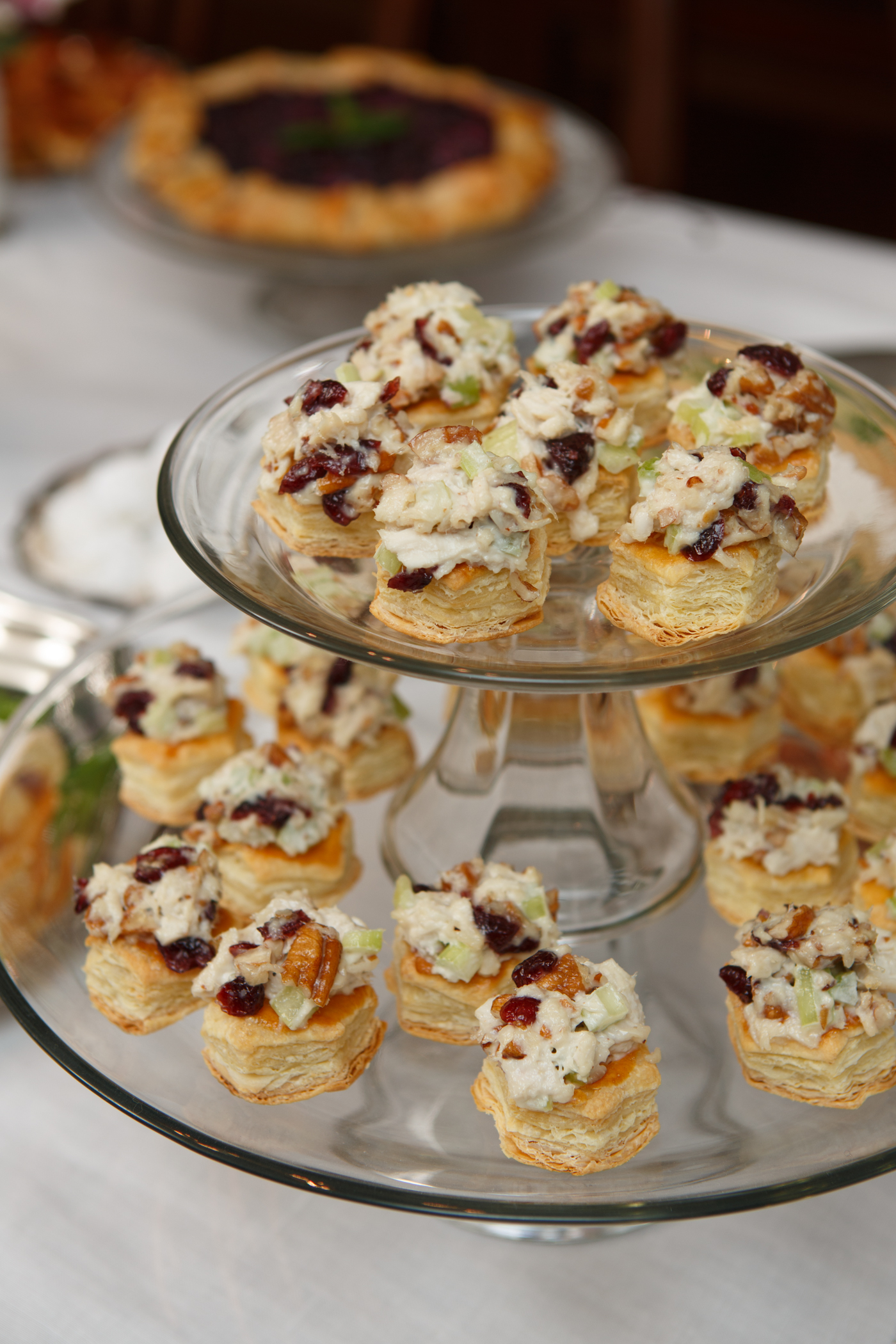 Cranberry-Pecan Chicken Salad Puffs