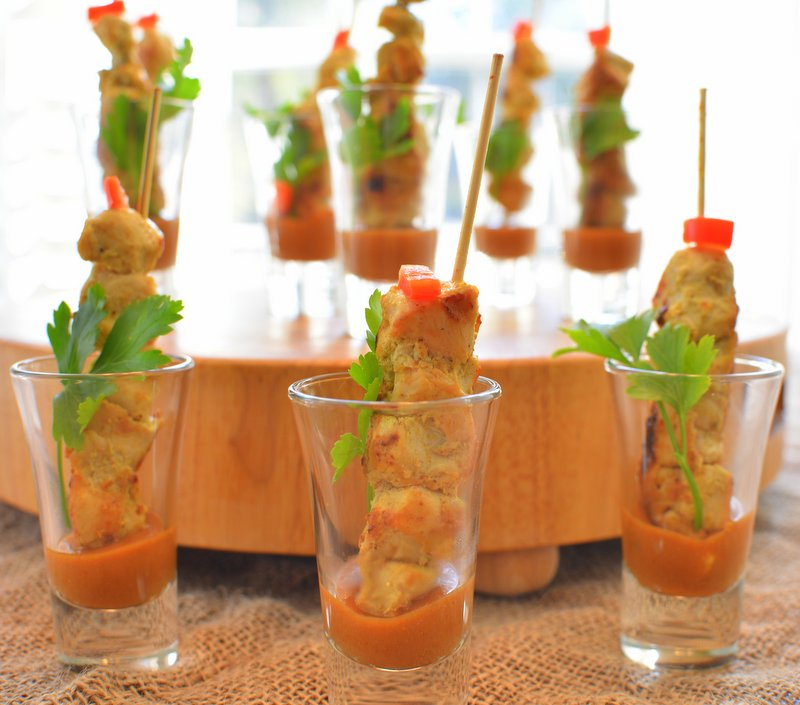 Chicken Satay with Spicy Thai Peanut Sauce