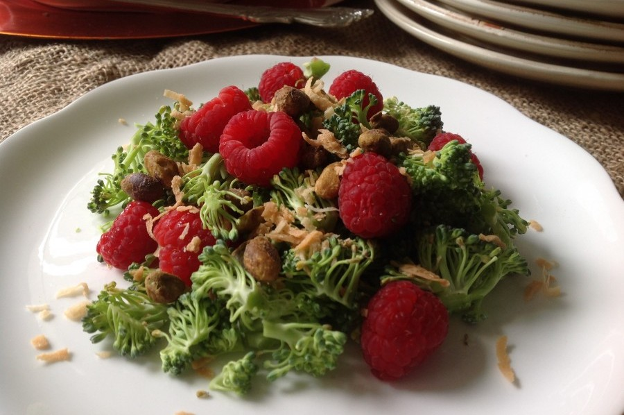 Broccoli and Raspberry Salad
